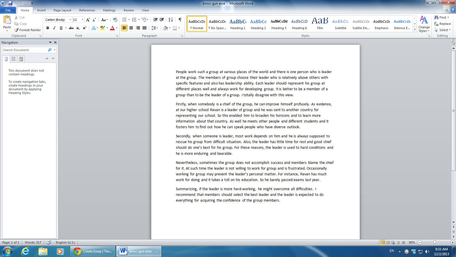Cold running creek essay