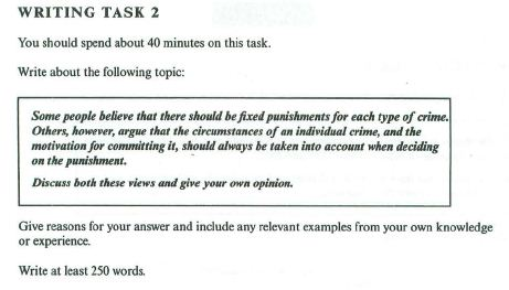 ielts essay punishment for each type of crime