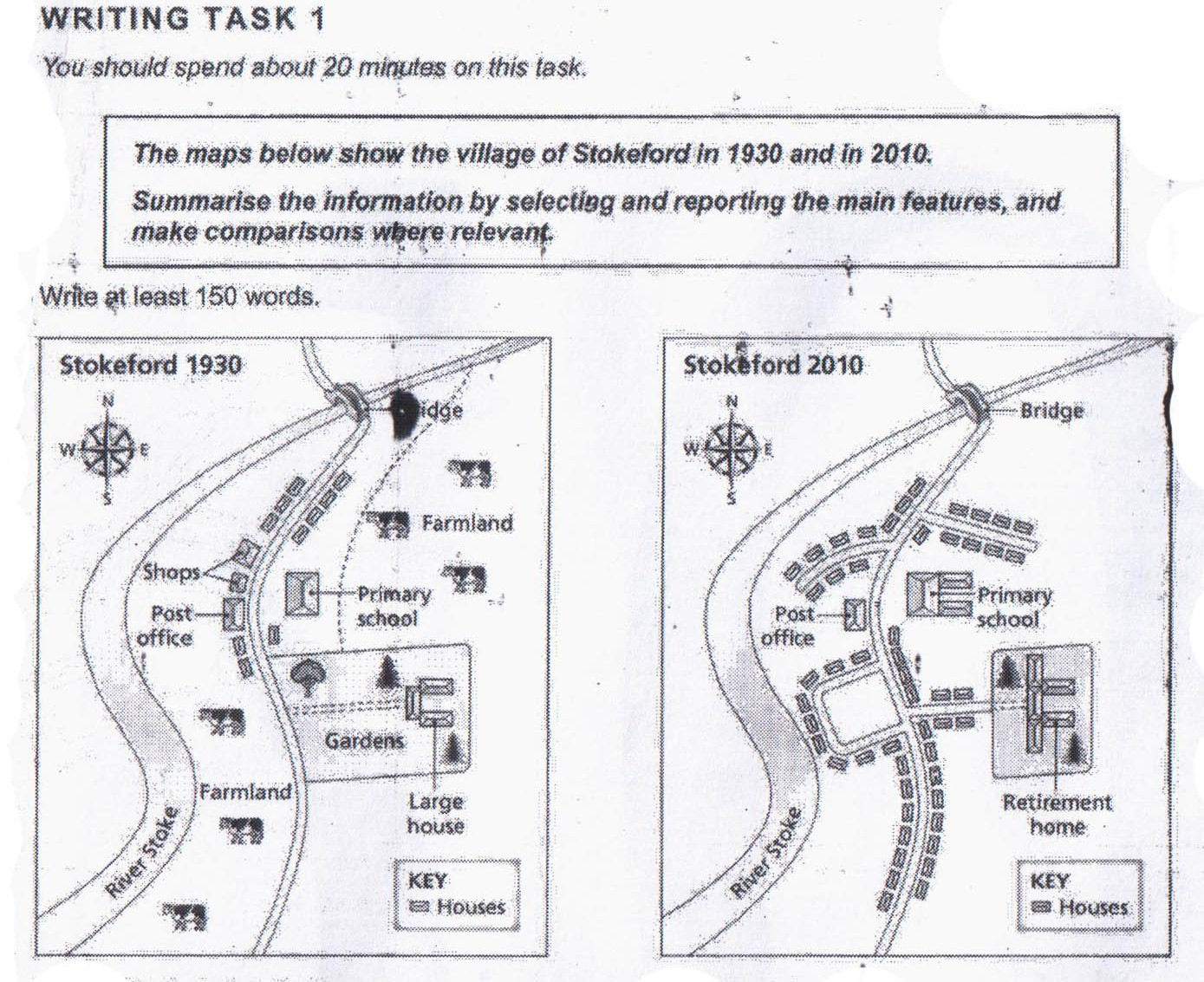 the maps below show the village of stokeford in and in  essay topics the maps below show the village of stokeford in 1930 and in 2010