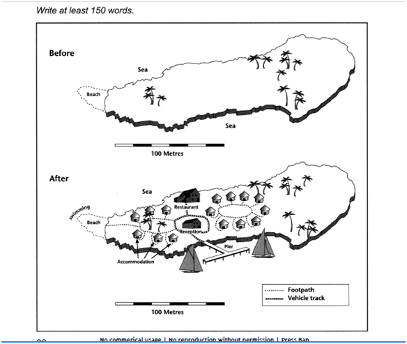 writing task the two maps below show an island before and  essay topics writing task 1 the two maps below show an island before and after construction of some tourist facilities