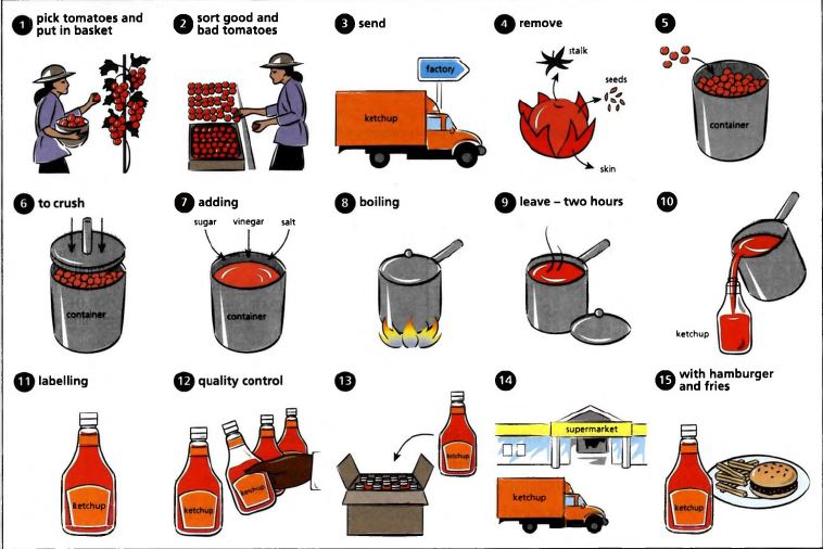 the pictures below show how tomato ketchup is made summarize the rh testbig com Process Flow Diagram Template Application Process Flow Diagram