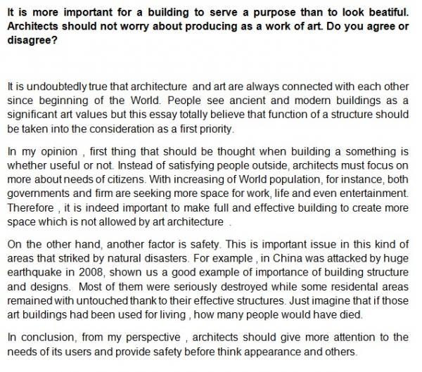 modern architecture essay topics