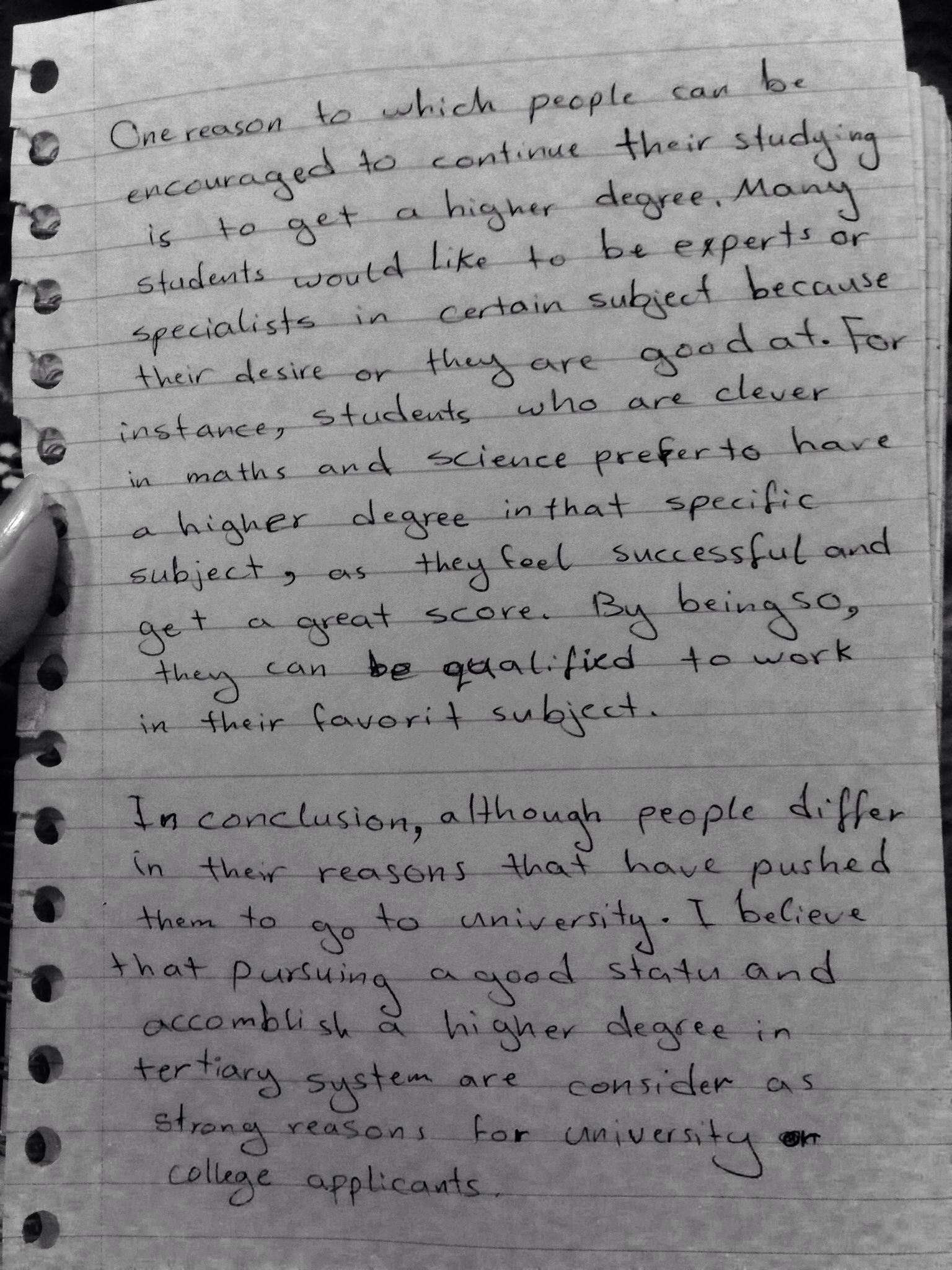 reasons why we write essays Why i write, the essay of george orwell for this and other reasons i was somewhat lonely we rocked our troubled thoughts to sleep.