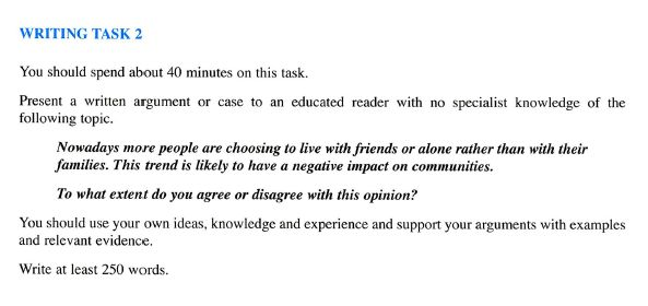 Writing task 2 agree or disagree